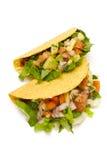 Tacos sano en un fondo blanco Imagen de archivo