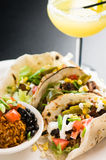 Tacos with a Side of Rice Royalty Free Stock Images