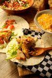 Tacos tex mex chicken homemade overview Stock Photos