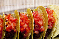 Tacos with tomatoes Stock Photo