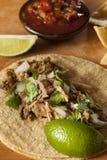 Tacos tradicionales del cerdo Imagenes de archivo
