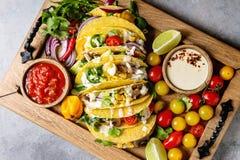Tacos végétarien de maïs image libre de droits