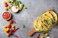 Tacos végétarien de maïs photos stock