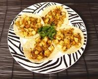 Tacos vegetariano immagine stock