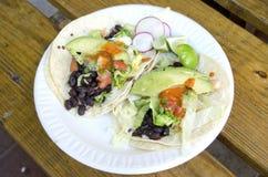 Tacos vegetarianos Imágenes de archivo libres de regalías