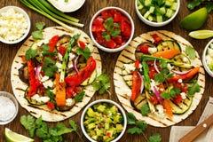 Tacos vegetarianos del bocado Imagen de archivo