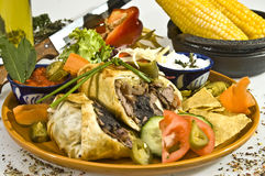 Tacos w pork meat Stock Images