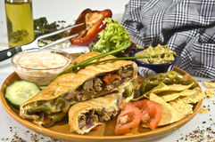 Tacos w pork meat Royalty Free Stock Image