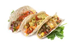 Free Tacos With Different Fillings Stock Images - 182193824
