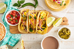 Tacos With Eggs For Breakfast Royalty Free Stock Photography
