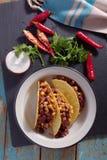 Tacos z Chili con carne Zdjęcia Stock