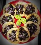 Tacoservierplatte Stockfoto