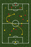 Tactic. Footballfield as a illustration / image combination Stock Images