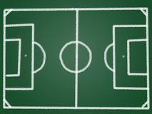 Tactic football field Stock Image