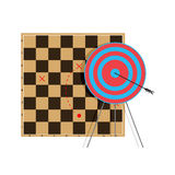 Tactic to goal. Bullseye arrow, professional vector illustration Stock Photography