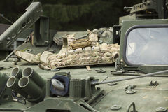 Tactical body armor on the armor Royalty Free Stock Images