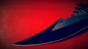 Tactical combat knife blade Stock Images