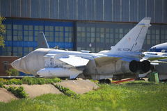 Tactical front-line bomber Su-24 on ground royalty free stock photography
