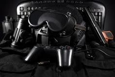 Tactical gear & gamepad. Royalty Free Stock Photo
