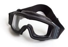 Tactical goggles. On white Royalty Free Stock Photo