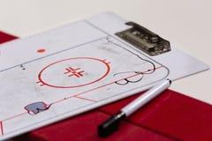 Tactical hockey Board. Close up stock photos
