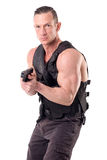 Tactical law enforcer posing Stock Photography