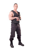 Tactical law enforcer posing Stock Photo