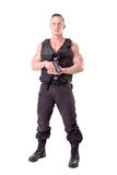 Tactical law enforcer posing Royalty Free Stock Image
