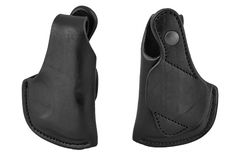 A tactical leather holster without gun. Isolated.  Stock Photo