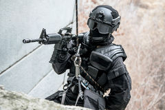 Tactical rappeling Royalty Free Stock Images