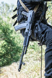 Tactical rappeling Stock Images