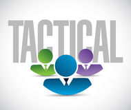 Tactical team sign illustration design graphic Royalty Free Stock Images