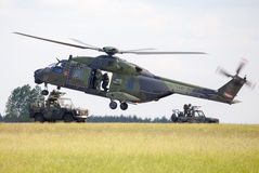 Tactical troop helicopter NH90 Stock Image
