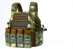 Tactical Vest for army with bulletproof and ammo Stock Photo