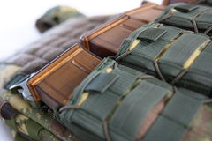 Tactical Vest for army with bulletproof and ammo Stock Image