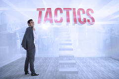 Tactics against city scene in a room Royalty Free Stock Image