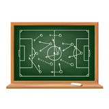 Tactics and scheme. Chalk board. Tactics and scheme football game. Isolated on white background. Stock  illustration Stock Photos