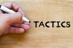 Tactics text concept Stock Photography