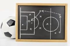 Tactiek van voetbalspel stock foto's