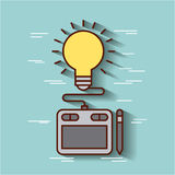 Tactile graphic designer ideas. Icon vector illustration design graphic Royalty Free Stock Images