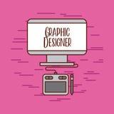 Tactile graphic designer ideas. Icon vector illustration design graphic Stock Images