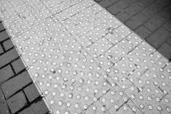 Tactile pavement Royalty Free Stock Images