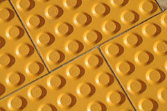 Tactile Paving. For Blind Handicap With Textured Surface Stock Photos