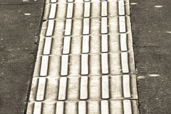 Tactile paving Royalty Free Stock Photography