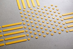 Tactile paving for blind and visually impaired Royalty Free Stock Photo