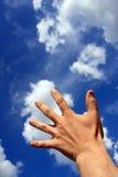 Tacto al cielo Fotos de archivo libres de regalías