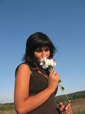 Tacto de la flor Imagen de archivo