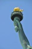 Tacto de la libertad de la estatua Fotografía de archivo