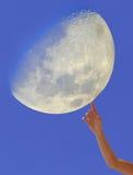 Tacto de la luna Fotos de archivo
