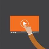 Tacto de la mano en el vídeo Imagen de archivo